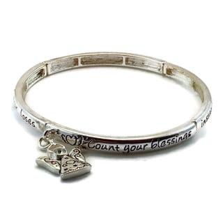 Mama Designs Inspirational Angel Blessing Stretch Bracelet