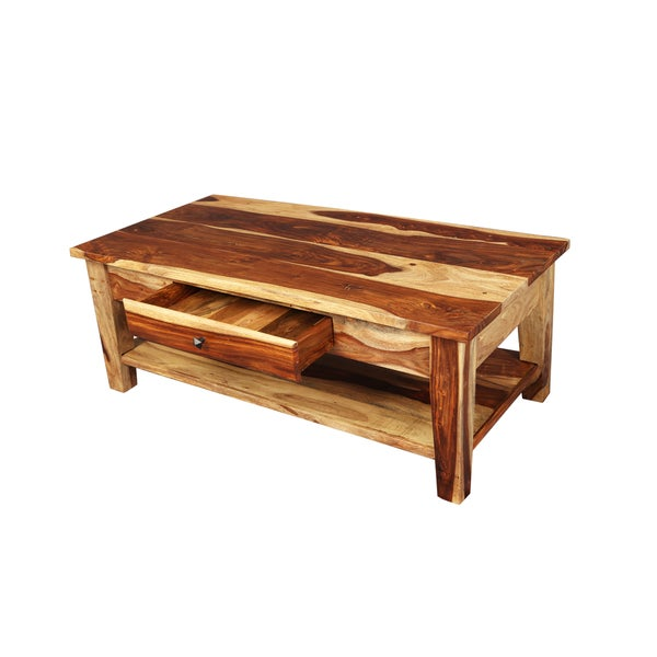 Porter Taos Sustainable Sheesham Coffee Table With Storage Drawer India 18308453 Overstock