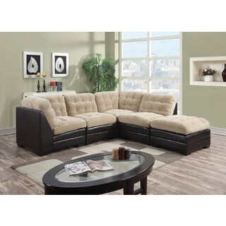 Porter Morrison Toast Beige Sectional Sofa with Optional Ottoman