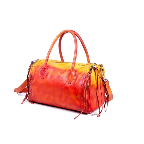 Old Trend 12065 Sunny Hill Yellow/ Red Satchel
