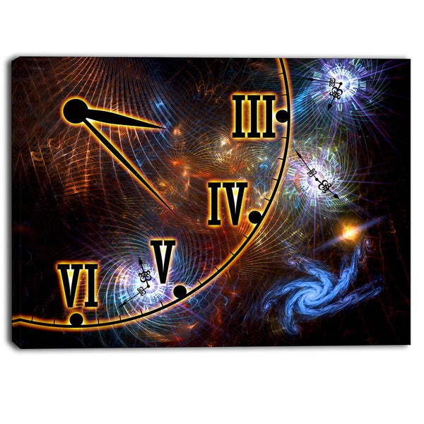 Designart - Fabric of Space and Time - Digital Canvas Art Print