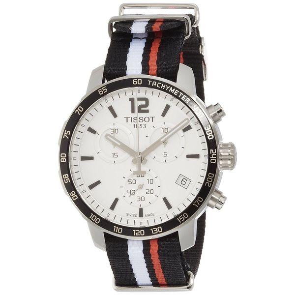 Tissot Men's T0954171703701 'Quickster' Chronograph Extra Band Black Nylon Watch 17456795