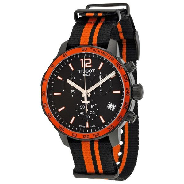 Tissot Men's T0954173705700 'Quickster' Chronograph Extra Band Black Nylon Watch 17456822