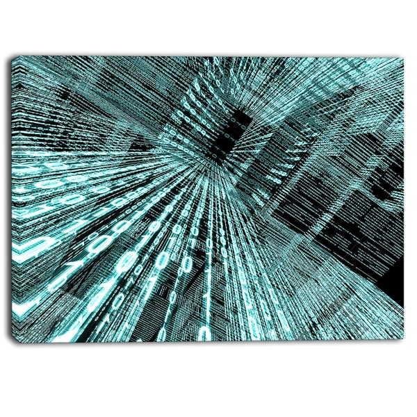 Designart - Binary Code - Contemporary Art Canvas Print
