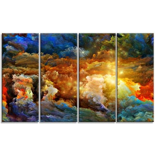 Designart - What Colors May Come -4 Panels Abstract Canvas Artwork