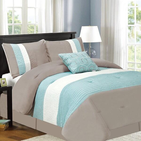 Fall River Luxury 5-Piece Aqua Comforter Set