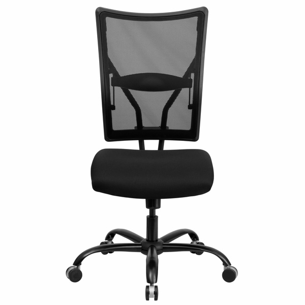 Liberty Armless Black Mesh Executive Adjustable Swivel Office Chair
