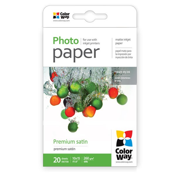 Premium Luster ColorWay Photo Paper 4-inch x 6-inch 20 sheets