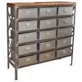 Wanderloot Vintage Industrial Metal Arts and Crafts Storage Cabinet (India)