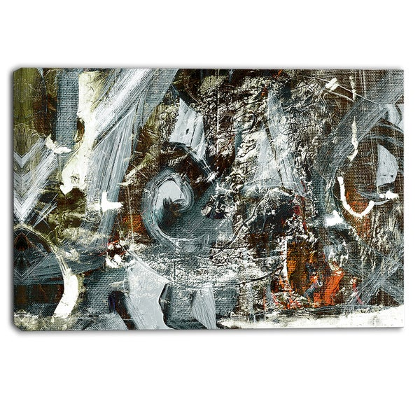 Designart - Contemporary Abstract Design - Abstract Canvas Print