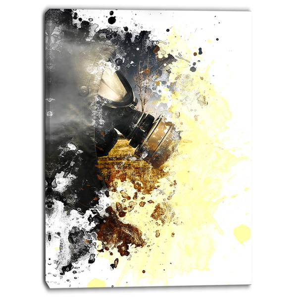 Designart - Disaster of War and Gas - Digital Abstract Canvas Art Print
