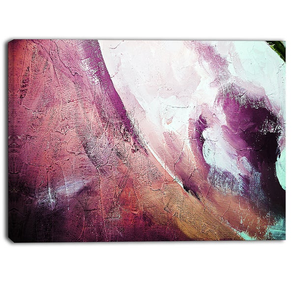 Designart - White and Purple Texture - Abstract Canvas Art Print