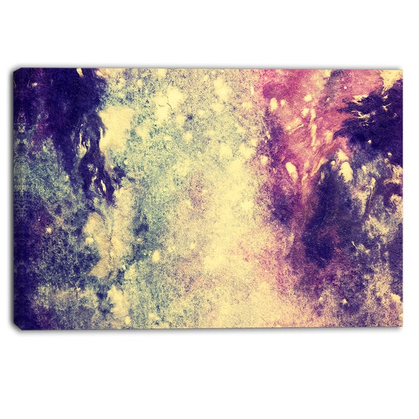 Designart - Deep Blue and Purple - Abstract Canvas Print