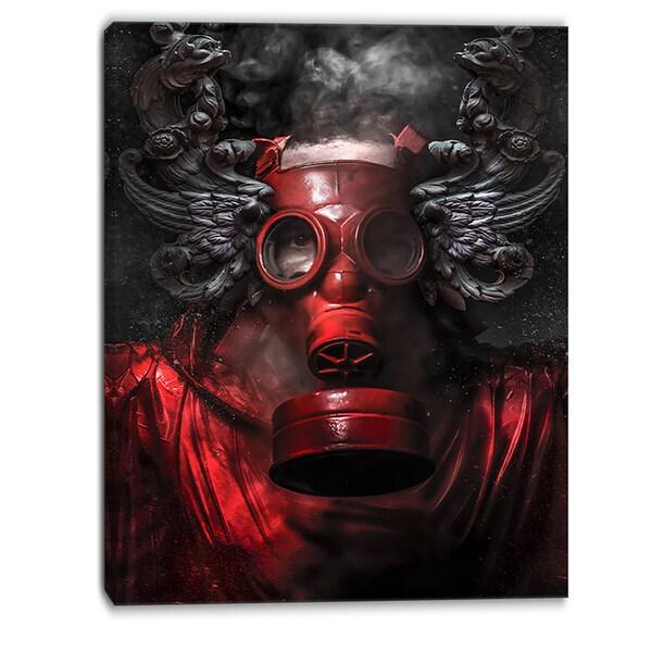 Designart - Nuclear Attack - Contemporary Canvas Art Print