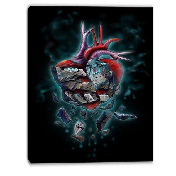 Designart - Stone Heart Revival - Abstract Canvas Art Print