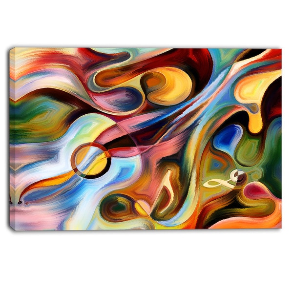 Designart - Music beyond the Frames - Music Abstract Canvas Print