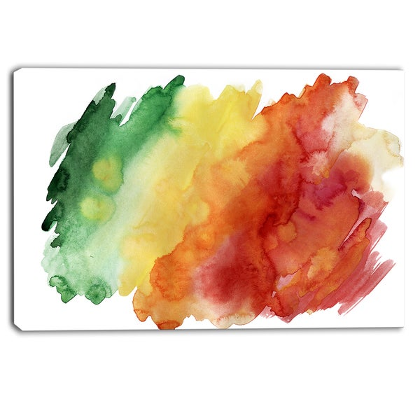 Designart - Color Explosion - Abstract Canvas Art Print