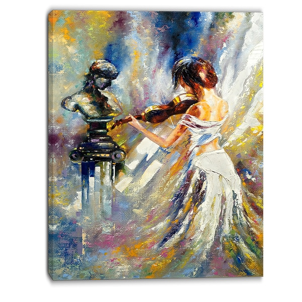 Designart - Love with Endless Music - Abstract Canvas Art Print