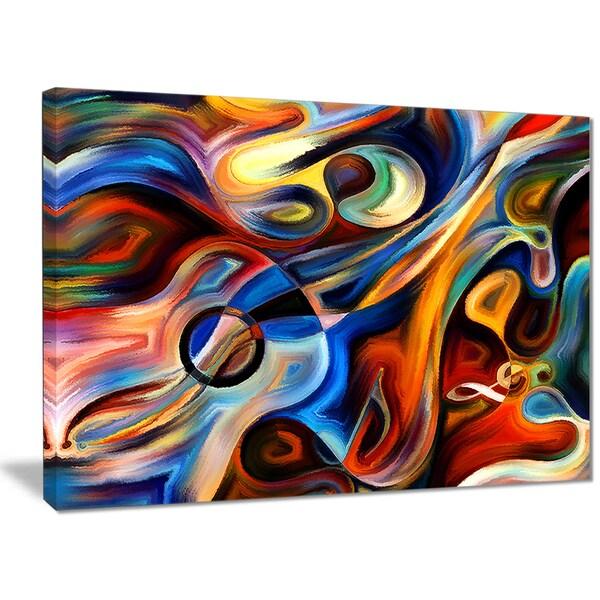 Designart - Abstract Music and Rhythm - Abstract Canvas Art Print