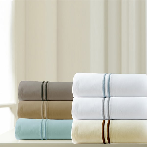 1000 Thread Count Egyptian Cotton Rich 6-piece Sheet Set with Double Marrow Hem