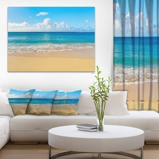 Designart - Calm Beach and Tropical Sea - Photo Canvas Art Print