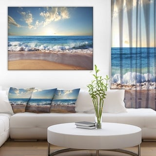 Designart - Sea Sunset - Seascape Photography Canvas Art Print