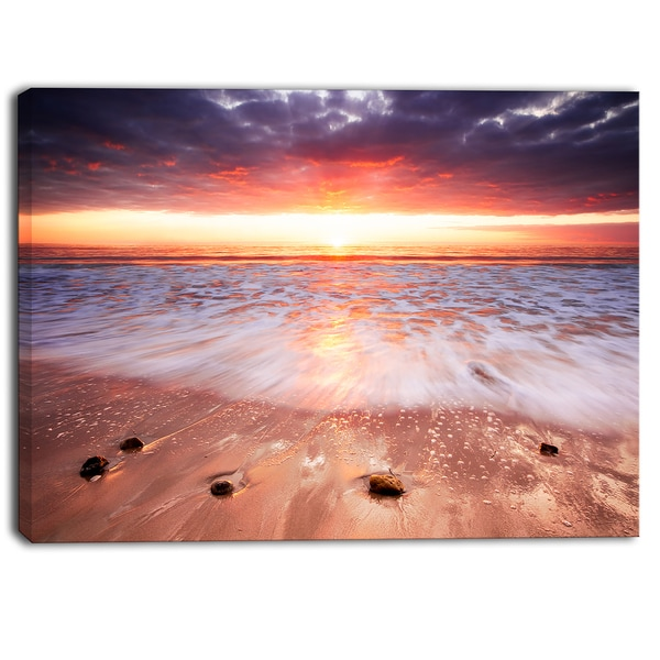 Designart - Sunset Strip - Landscape Photography Canvas Print