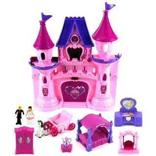 Velocity Toys Beauty Princess Castle 22-piece Toy Doll Playset