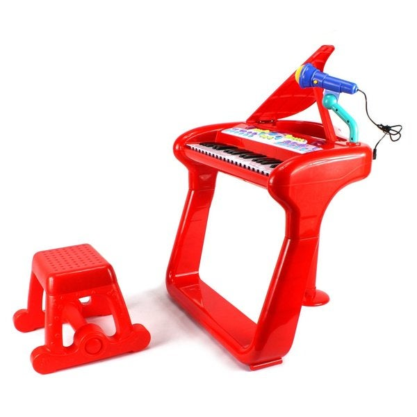 Velocity Toys Classical Elegant Piano Children's Musical Toy Red Keyboard Play Set
