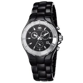 Technomarine Women's Ceramic 110028C Cruise Black Dial Chronograph Watch