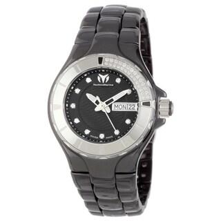 Technomarine Women's Ceramic 110027C Cruise Casual Black Dial Watch