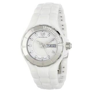 Technomarine Women's Ceramic White Diamond Dial 110023C Cruise Watch