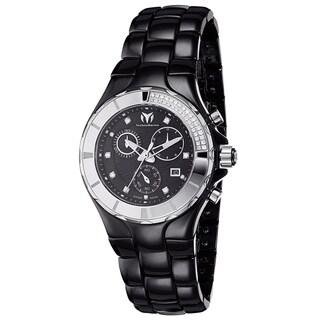 Technomarine Women's Ceramic Diamond 110029C Cruise Black Dial Chronograph Watch