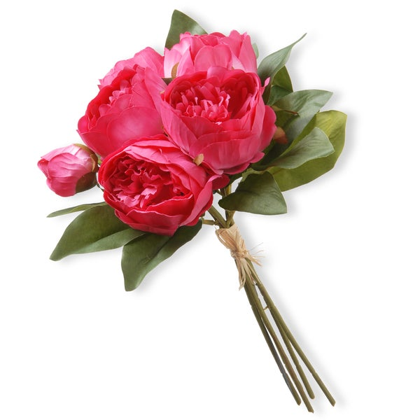 National Tree Company Bright Pink Peony Bundle