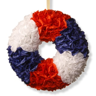 National Tree Company 18-inch Patriotic Rose Wreath
