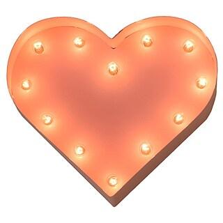Indoor/ Outdoor Pink 12-inch Heart Marquee Light