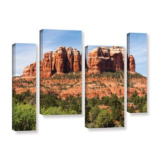 ArtWall Cody York's Sedona 2, 4 Piece Gallery Wrapped Canvas Staggered Set