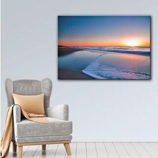 ArtWall Steve Ainsworth's Sunrise Over Assateague II, Gallery Wrapped Canvas