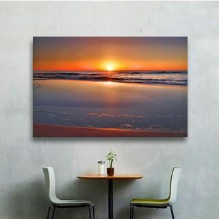 ArtWall Steve Ainsworth's Sunrise Over Assateague , Gallery Wrapped Canvas