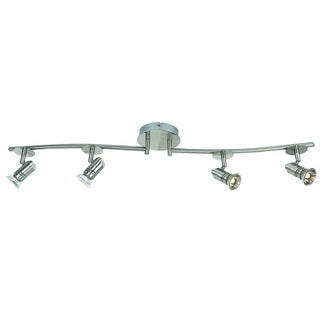 19211-000 Four Light Fixed Track with Adjustable Arms in Brushed Nickel Finish