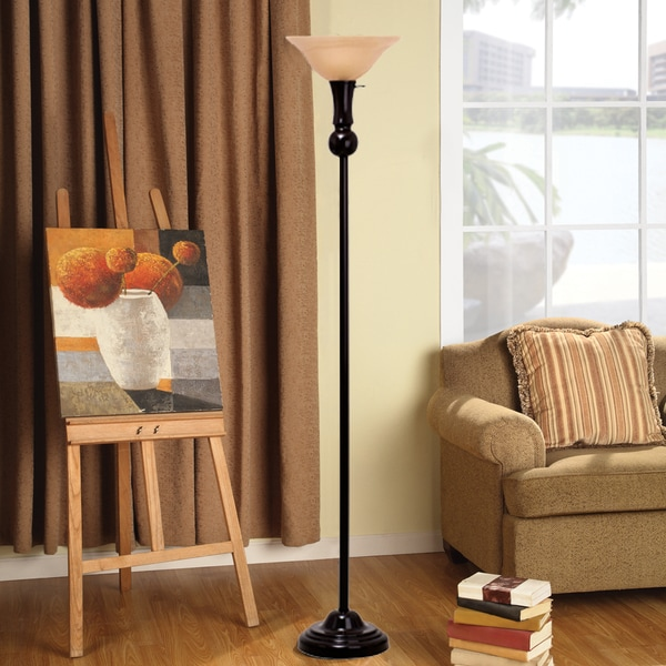 catalina 18580 000 72 inch 3 way bronze torchiere lamp. Black Bedroom Furniture Sets. Home Design Ideas