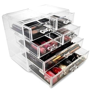 Sorbus Makeup Storage Case Display-2 Large and 4 Small Drawers