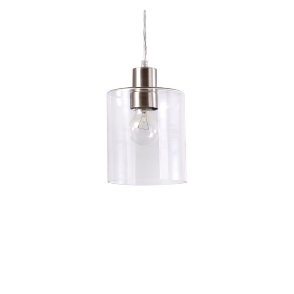 Catalina Brushed Nickel 1-light Clear Glass Mini Pendant