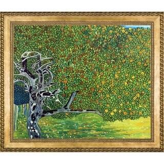Guatav Klimt 'Golden Apple Tree' (Luxury Line) Hand Painted Framed Canvas Art