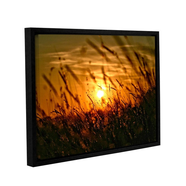 ArtWall Mark Ross's An Evening with the Quiet Voice, Gallery Wrapped Floater-framed Canvas