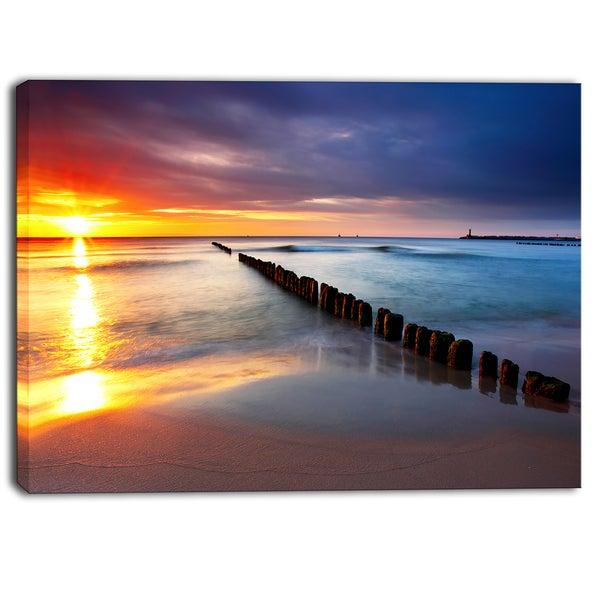Designart - Baltic Sea Poland Beach - Photography Canvas Art Print