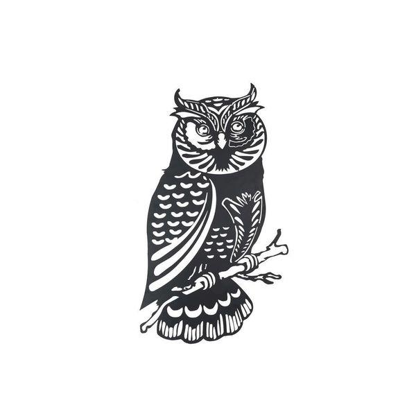 Sunjoy Owl Metal Black 41-inch Laser Cut Wall Decor