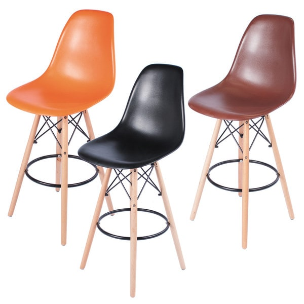Counter Height Eames : Retro Eames Style 26-inch Counter Bar Stool with Oak Wooden Base ...