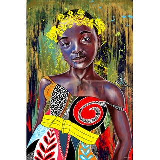 Maxwell Dickson 'Butterfly Princess' Modern Canvas Wall Art