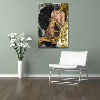 Maxwell Dickson 'Resting Angel' Modern Canvas Wall Art